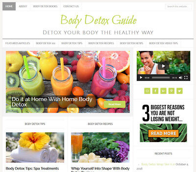 Body Detox Turnkey Website Business For Sale With Auto Updating Content