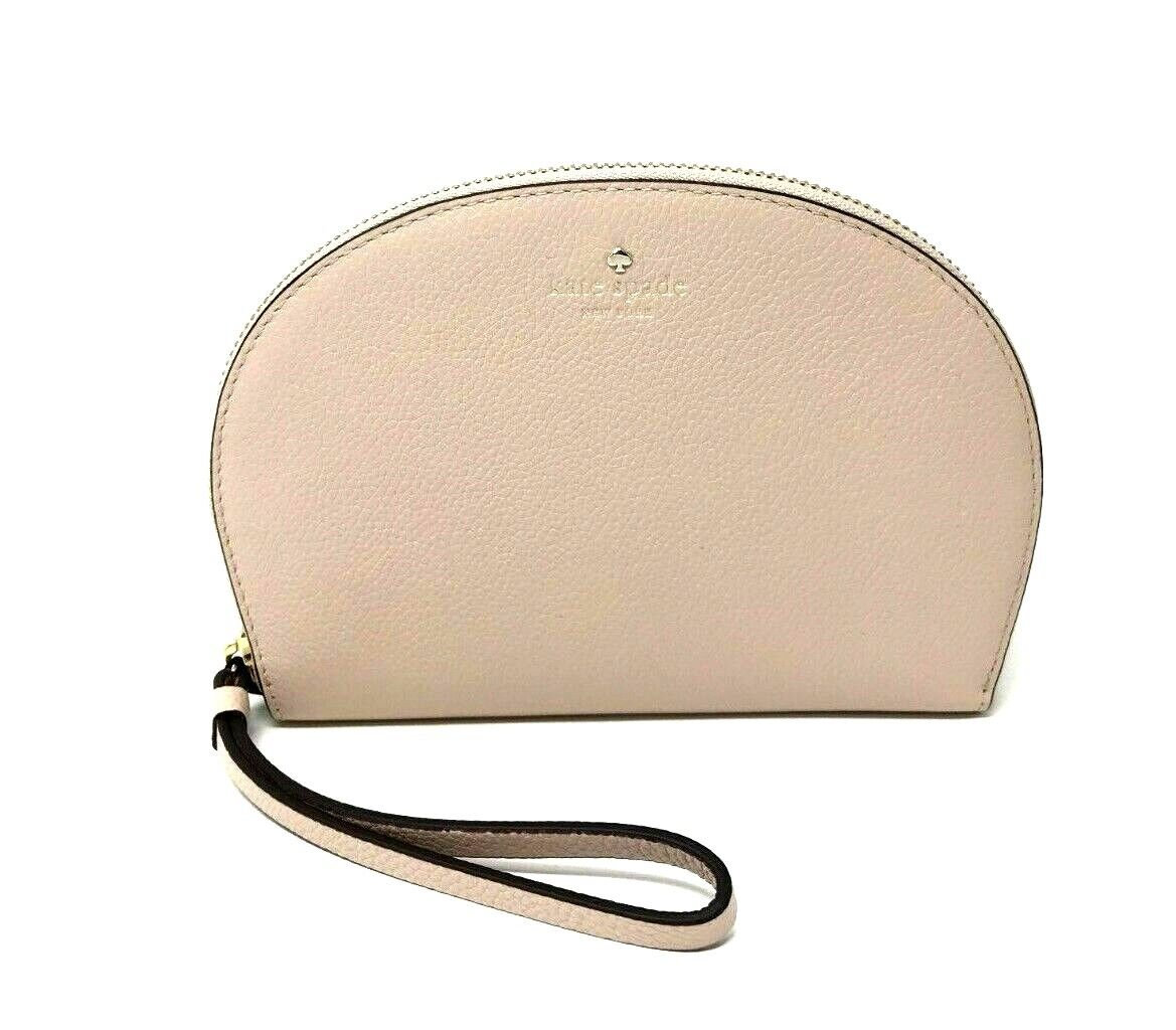 Kate Spade Shara Larchmont Avenue Warm Beige Clutch Cosmetic Bag