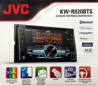 JVC KW-R920BTS Double DIN Bluetooth In-Dash Car Stereo with SiriusXM Radio Ready