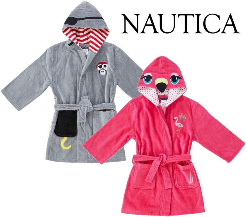 NEW KIDS NAUTICA HOODED TERRY ROBE BATH OR BEACH COVER-UP POOL COVERUP VARIETY