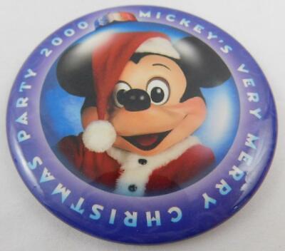 Disney Mickey's Very Merry Christmas Party 2000 Pin Button (Very Merry Christmas Party Button)