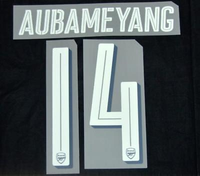 Used, Arsenal Aubameyang 14 2018/19 Europa League/FA Cup football shirt Name set home for sale  Shipping to United States