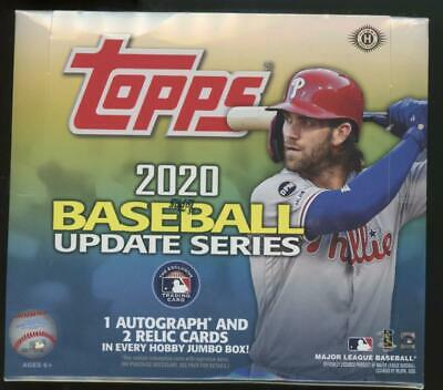 2020 Topps Update Baseball Factory Sealed Hobby Jumbo HTA Box