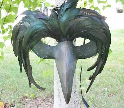 Bethany Lowe Halloween Feather Raven Plague Doctor Death Mask Too Cool! New](Doctor Halloween Decorations)