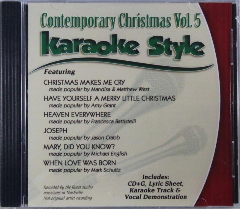 Contemporary Christmas Volume 5 Christian Karaoke Style NEW CD+G Daywind 6 Songs