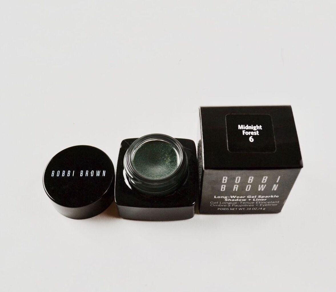 Bobbi Brown Long Wear Gel Sparkle Shadow + Liner MIDNIGHT