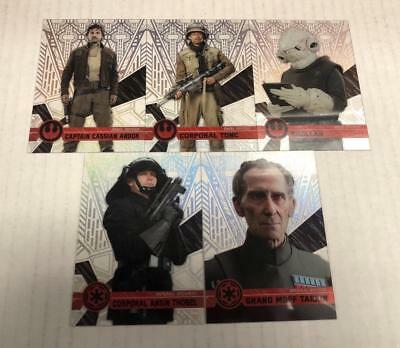STAR WARS HIGH TEK 2017 PATTERN 2 A 5 CARD LOT 59 77 80 107 112 TOPPS UNCOMMON