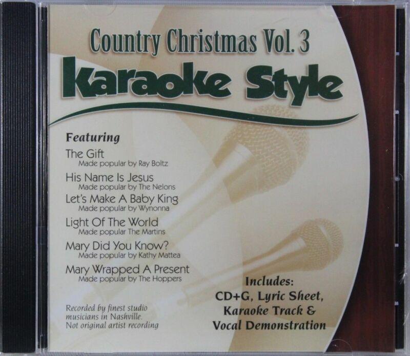 Country Christmas Volume 3 Christian Karaoke Style NEW CD+G Daywind 6 Songs