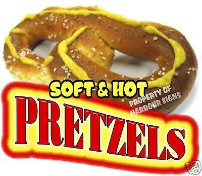 Soft Hot Pretzels Decal 14 Food Truck Concession Stand Restaurant Vinyl