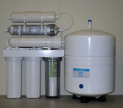 Dual Outlet Reverse Osmosis DI/RO Water Filter System 6 GALLON TANK 150 GPD