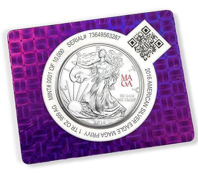2016 1 oz American Silver Eagle Coin w/