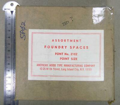 Alphabets Letterpress Type Nos 30pt Asst Foundry Spaces Awt Sp02 5