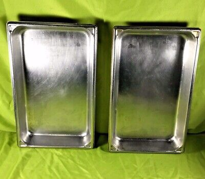 Vollrath Stainless Steel Steam Table Pan 12 Size 2.5 Deep No. 3002-2 Lot Of 2