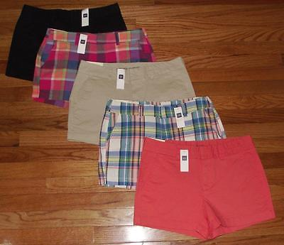 NWT Womens Khakis by GAP Shorts The City 3 Inch Short $34.99 Choice of 5 Colors