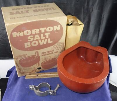 Vintage Morton Salt Bowl Cow Trough Unused In Box - Only One Like it !