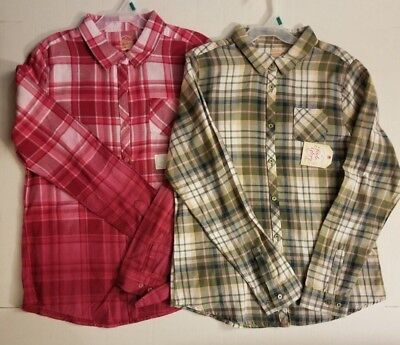 FADED GLORY GIRLS FLANNEL *2 PACK* OLIVE LEAVES ROSE SANGRIA XS L XL NWT FAST!](Rose Sangria)
