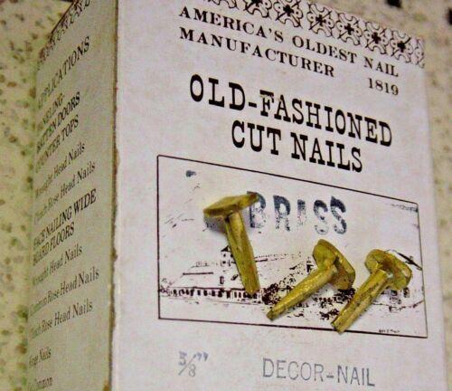 """Antique Furniture Restoration Tremont Trunk 25 Pc Lot 5/8"""" Brass Decor Cut Nails"""