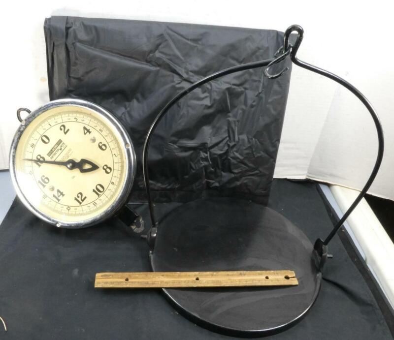 Vintage Jacobs Detecto Wate General Store Hanging Scale Double Sided 0-20 Pounds