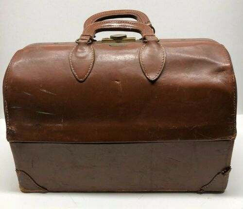 "Vintage DOCTORS BAG - Emdee by Schell - Top Grain Cowhide - 17"" X 8"" X 11 1/2"""