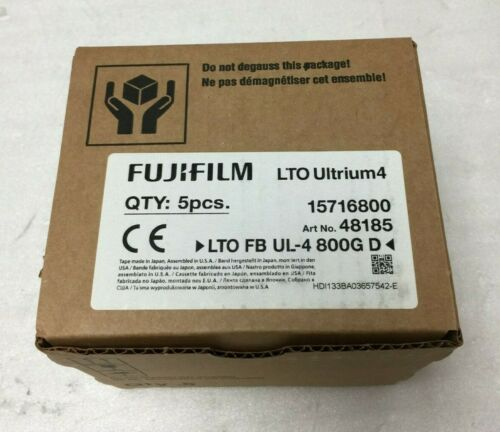 Box of 5 Sealed Fujifilm LTO Ultrium4 48185 800GB / 1600GB Data Cartridge