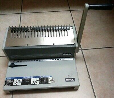Used Ibico Ibimatic Heavy Duty Manual Comb Binding Punch Machine Works