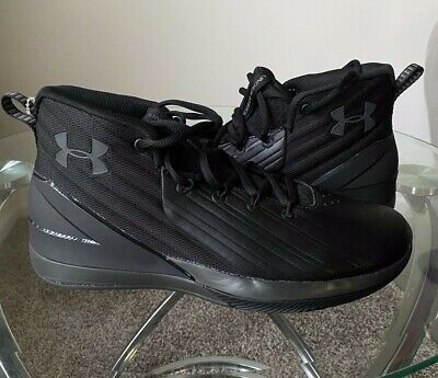 Under Armour Lockdown 3 Basketball High Top Shoes BLK Mens Sz 8.5 NWOB 3020622
