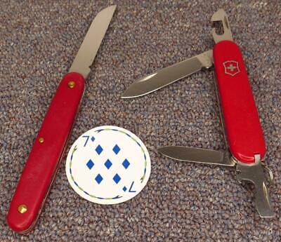 Victorinox Pruning Knife & 84mm Recruit Swiss Army Knives, FAIR Condition