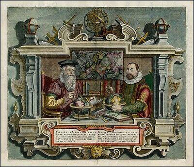 Portrait Of Gerard Mercator und Jodocus Hondius von Coletta Hondi Er Aufdruck