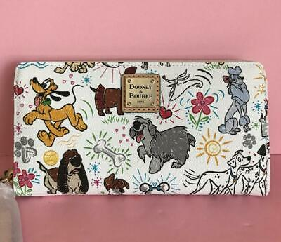 Disney Dooney & Bourke Dogs Sketch Wallet Pluto Max Georgette lafayette NWT