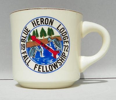 Vintage BSA Blue Heron Lodge 1972 Fall Fellowship Coffee Mug VGUC
