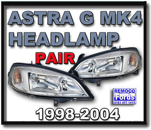 VAUXHALL-ASTRA-g-MK4-HEADLIGHT-headlamp-1998-1999-2000-2001-2002-2003-2004-PAIR
