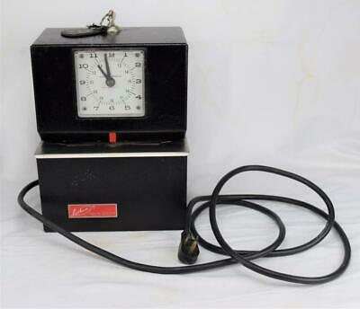 Vintage Lathem Time Corporation Punch Clock Model 3021 With 2 Keys Working