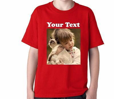 FOR KID'S YOUTH'S DTG CUSTOM DESIGN DIRECT DIGITAL PHOTO PRINTING COLOR T-SHIRT - Custom Kid