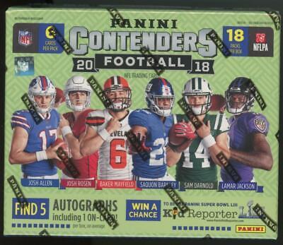 2018 Panini Contenders Factory Sealed Football Hobby Box Josh Allen Lamar Auto's