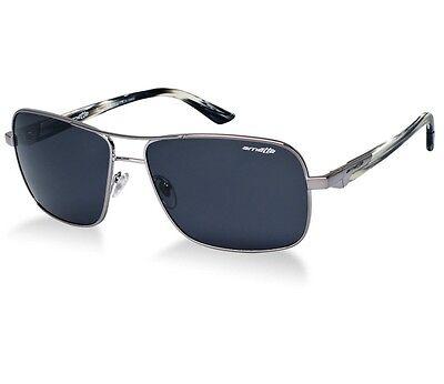 Arnette AN 3062-01 Stakeout Gunmetal Mens Boys Aviator Metal Sunglasses w  Case a217f144a95d