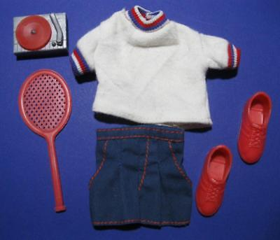 Vintage Ken DOLL Best Buy clothes Navy Shorts/Tennis Racquet Terry Shirt