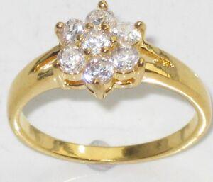 R850-WOMENS-7STONE-SOLITAIRE-EMERALD-CUT-3STONE-SIMULATED-DIAMOND-RING