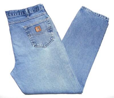 """*Carhartt* Mens Vintage Relaxed Tapered Fit Jeans 38""""W X 34""""L B17 Grunge (Y267)"""