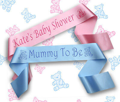 Personalised Baby Shower Sash/Sashes/Banners/Big Sister/Nanna/Grandma/Daddy