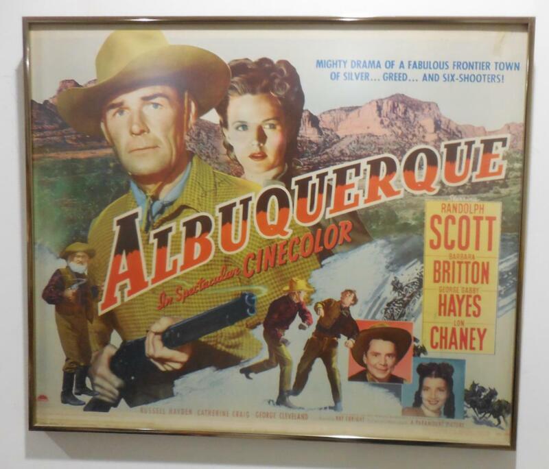 """Albuquerque"" Vintage Movie Poster Hand Signed Autographed Randolph Scott 1948"