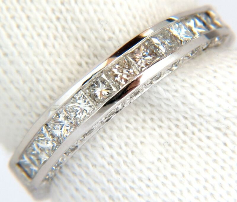 $4000 1.00ct Brilliant Princess Cuts & Rounds Cuts Diamond Band 14kt G/vs