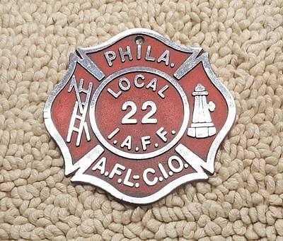 Decalcomanii patch uri in romn este simplu s cumprai ebay philadelphia local 22 iaff fire department aflcio metal badge publicscrutiny Choice Image