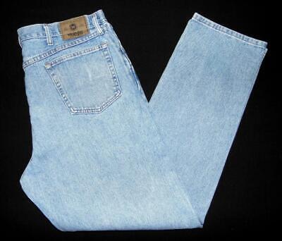 "* Wrangler * Mens Relaxed Fit Jeans 38""W X 34""L 97601SB Light Blue Denim (Y264)"