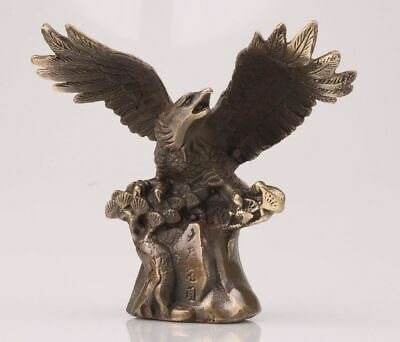 Unique ChinA Bronze Statue Figurines Decorated Winged Eagle Mascot