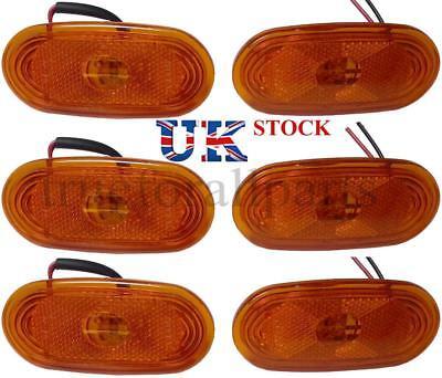 New 6x Side Marker Lights Amber LED Lamps for MERCEDES SPRINTER - VW CRAFTER