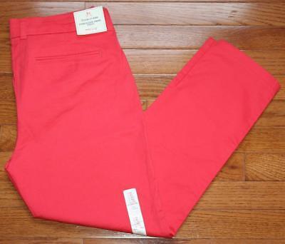 NWT Womens GAP Slim City Khaki Khakis Cropped Pants Stretch Rose Bush Pink *F6
