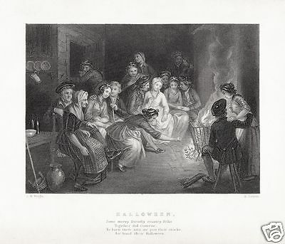 Robert Burns Halloween (JM Wright Edward Scriven Robert Burns Halloween 6x5 inch)