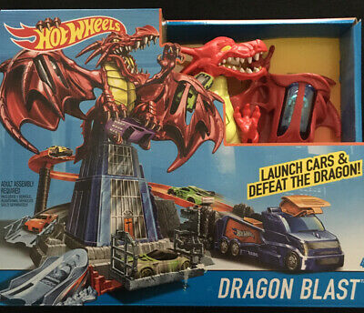NEW Hot Wheels Dragon Blast Car Launcher Playset