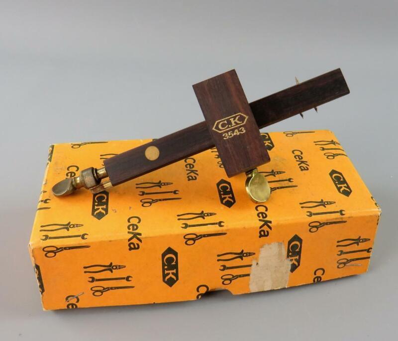 Vintage CK No 3543 Brass & Rosewood Marking + Mortice Gauge Boxed appears Unused