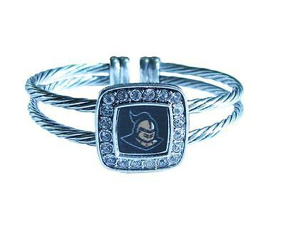 Central Florida Golden Knights Flexible Wire Cuff Crystal  Bracelet Jewelry UCF Central Florida Ucf Golden Knights